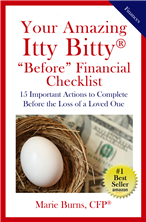 Your Amazing Itty Bitty® BEFORE Financial Checklist